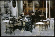 """Копия картины """"Conversation at the Cafe"""" художника """"Болдини Джованни"""""""