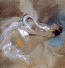"Репродукция картины ""Leda with Swan"" художника ""Болдини Джованни"""