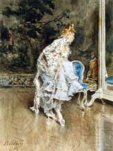 """Репродукция картины """"The Beauty Before The Mirror"""" художника """"Болдини Джованни"""""""