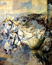 """Картина """"Two White Horses"""" художника """"Болдини Джованни"""""""