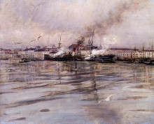 "Картина ""View of Venice"" художника ""Болдини Джованни"""