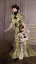"""Картина """"madame georges hugo and her son jean"""" художника """"болдини джованни"""""""