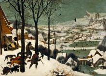 "Картина ""охотники на снегу"" художника ""брейгель старший питер"""