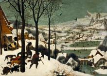 """Копия картины """"Охотники на снегу"""" художника """"Брейгель Старший Питер"""""""