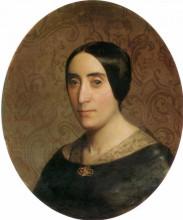 """Копия картины """"A Portrait of Amelina Dufaud"""" художника """"Бугро Вильям Адольф"""""""