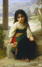"""Картина """"The Little Beggar"""" художника """"Бугро Вильям Адольф"""""""