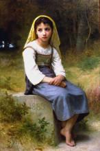 "Картина ""Meditation"" художника ""Бугро Вильям Адольф"""