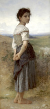"Картина ""the young shepherdess"" художника ""бугро вильям адольф"""