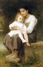 "Картина ""Theelder sister"" художника ""Бугро Вильям Адольф"""