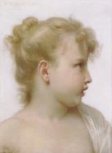 """Репродукция картины """"Head Of A Little Girl"""" художника """"Бугро Вильям Адольф"""""""