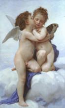 "Картина ""Cupid andPsyche"" художника ""Бугро Вильям Адольф"""