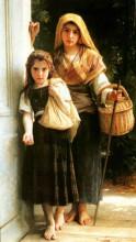 "Копия картины ""Little beggar"" художника ""Бугро Вильям Адольф"""