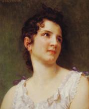 "Картина ""Portrait of a young girl"" художника ""Бугро Вильям Адольф"""