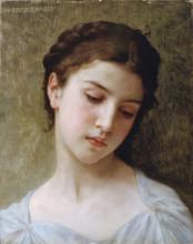 """Репродукция картины """"Head Of A Young Girl"""" художника """"Бугро Вильям Адольф"""""""