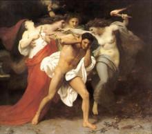 """Картина """"Orestes Pursued by the Furies"""" художника """"Бугро Вильям Адольф"""""""