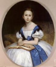 """Копия картины """"Portrait of Mlle Brissac"""" художника """"Бугро Вильям Адольф"""""""