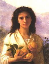 """Репродукция картины """"Girl Holding Lemons"""" художника """"Бугро Вильям Адольф"""""""