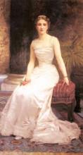 """Репродукция картины """"Portrait of Madame Olry Roederer"""" художника """"Бугро Вильям Адольф"""""""