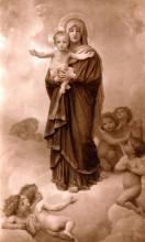 """Репродукция картины """"Our Lady of the Angels"""" художника """"Бугро Вильям Адольф"""""""