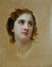 """Репродукция картины """"Sketch of a Young Woman"""" художника """"Бугро Вильям Адольф"""""""