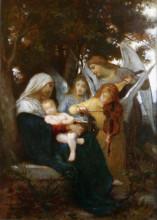 """Репродукция картины """"Study for Vierge aux anges"""" художника """"Бугро Вильям Адольф"""""""