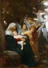 "Копия картины ""Study for Vierge aux anges"" художника ""Бугро Вильям Адольф"""