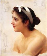 "Копия картины ""Study Of A Woman For Offering To Love"" художника ""Бугро Вильям Адольф"""
