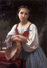 "Копия картины ""Gypsy Girl with a Basque Drum"" художника ""Бугро Вильям Адольф"""