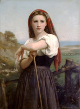 "Картина ""Young Shepherdess"" художника ""Бугро Вильям Адольф"""