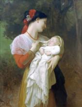 """Копия картины """"Maternal Admiration"""" художника """"Бугро Вильям Адольф"""""""
