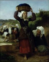 """Репродукция картины """"Washerwomen of Fouesnant"""" художника """"Бугро Вильям Адольф"""""""