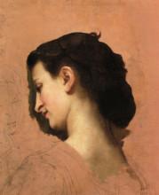 """Репродукция картины """"Study of a Young Girl s Head"""" художника """"Бугро Вильям Адольф"""""""
