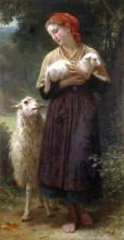 """Репродукция картины """"The Shepherdess"""" художника """"Бугро Вильям Адольф"""""""