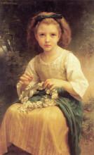 "Картина ""Child Braiding A Crown"" художника ""Бугро Вильям Адольф"""