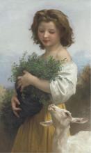 "Картина ""Little Esmeralda"" художника ""Бугро Вильям Адольф"""