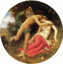 "Картина ""Cupid and Psyche"" художника ""Бугро Вильям Адольф"""