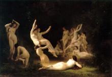 "Картина ""The Nymphaeum"" художника ""Бугро Вильям Адольф"""