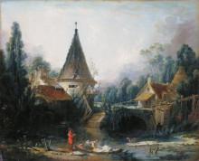 "Картина ""Пейзаж близ Бове"" художника ""Буше Франсуа"""