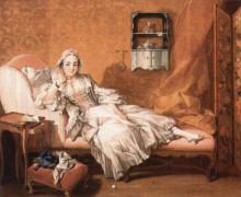 """Копия картины """"портрет жены художника"""" художника """"буше франсуа"""""""