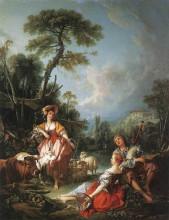 """Картина """"Летняя пастораль"""" художника """"Буше Франсуа"""""""