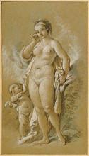 """Репродукция картины """"Венера и Амур"""" художника """"Буше Франсуа"""""""