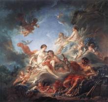 """Картина """"Вулкан, вручающий Венере оружие для Энея"""" художника """"Буше Франсуа"""""""