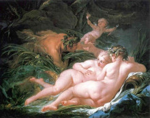 "Картина ""Пан и Сиринга"" художника ""Буше Франсуа"""