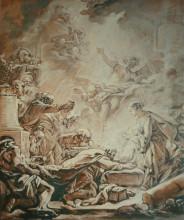 """Картина """"Поклонение волхвов"""" художника """"Буше Франсуа"""""""
