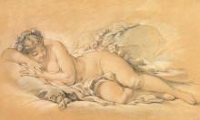 """Картина """"Спящая девушка"""" художника """"Буше Франсуа"""""""