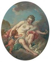 """Копия картины """"венера сдерживает амура"""" художника """"буше франсуа"""""""