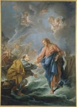 """Копия картины """"иисус учит петра ходить по воде"""" художника """"буше франсуа"""""""