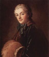 """Картина """"портрет дамы с муфтой"""" художника """"буше франсуа"""""""