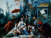 """Копия картины """"Китайский сад"""" художника """"Буше Франсуа"""""""