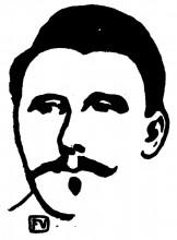 """Копия картины """"Portrait of Belgian writer, poet and playwright Maurice Maeterlinck"""" художника """"Валлотон Феликс"""""""